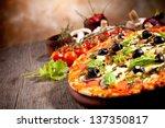 fresh italian pizza | Shutterstock . vector #137350817