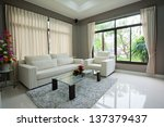 living room  interior | Shutterstock . vector #137379437