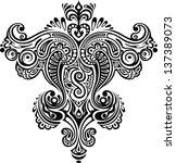 monochrome ornament.... | Shutterstock .eps vector #137389073