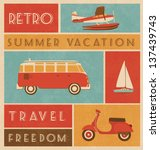 summer travel design | Shutterstock .eps vector #137439743