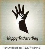 happy fathers day with two... | Shutterstock .eps vector #137448443