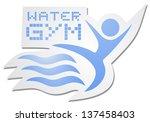 astratto,attivo,acqua gym,aquafitness,braccio,indietro,indietro esercizio,formazione di nuovo,distintivo,bagno,balneazione,blu,pulsante,circolare,coppia