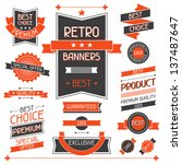 retro banners. set of labels... | Shutterstock .eps vector #137487647
