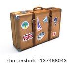 vintage suitcase | Shutterstock . vector #137488043