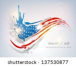 fourth of july  american... | Shutterstock .eps vector #137530877