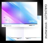 catalog booklet folder brochure ... | Shutterstock .eps vector #137547893