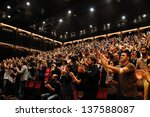 barcelona  spain   may 3  fans... | Shutterstock . vector #137588087