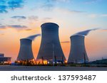 Tops Of Cooling Towers Of...