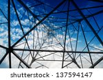 power tower in the sky... | Shutterstock . vector #137594147