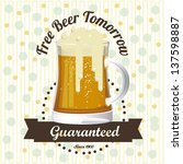 illustration of beer free label ... | Shutterstock .eps vector #137598887