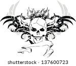 skull tribal tattoo in vector...