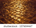 old cobblestone pavement after...   Shutterstock . vector #137604467