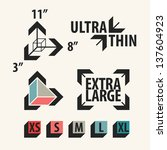 product size icons set. vector... | Shutterstock .eps vector #137604923