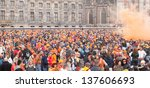 amsterdam   apr 30  thousands... | Shutterstock . vector #137606693