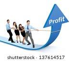 portrait of business team... | Shutterstock . vector #137614517
