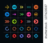 25 arrow sign icon set. set 04... | Shutterstock .eps vector #137623037