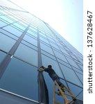 modern glass building... | Shutterstock . vector #137628467