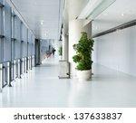 Empty Corridor In The Modern...