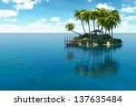Dream island - stock photo