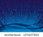 blue shine background - stock vector