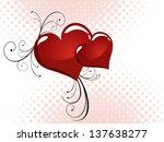 floral heart   vector | Shutterstock .eps vector #137638277