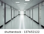 Empty hospital floor - High quality render - stock photo