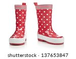 Red Rubber Boots For Kids...