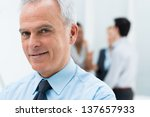 close up portrait of happy... | Shutterstock . vector #137657933