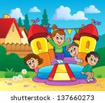 active,activity,art,artwork,backyard,bounce,bouncy,boy,cartoon,castle,child,childhood,design,draw,drawing