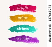 beautiful bright watercolor... | Shutterstock .eps vector #137669273