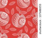 apple pattern seamless... | Shutterstock .eps vector #137688353