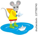 vector image of mouse playing... | Shutterstock .eps vector #137700743