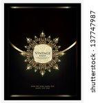 vector. restaurant menu design   Shutterstock .eps vector #137747987