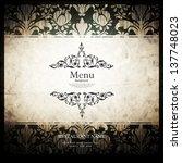 vector. restaurant menu design | Shutterstock .eps vector #137748023