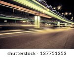 light traces on traffic... | Shutterstock . vector #137751353