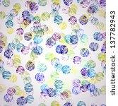 watercolor vector seamless... | Shutterstock .eps vector #137782943