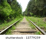 Old Railway Track In The Fores...