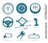 car parts   vector illustration | Shutterstock .eps vector #137802347