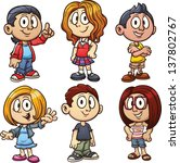 cartoon kids. vector clip art... | Shutterstock .eps vector #137802767
