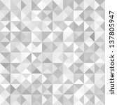 abstract gray geometric... | Shutterstock .eps vector #137805947