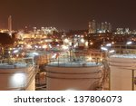 night scene of chemical plant   ... | Shutterstock . vector #137806073