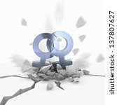 Постер, плакат: Blue metallic same sex
