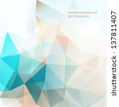 abstract background polygonal | Shutterstock .eps vector #137811407