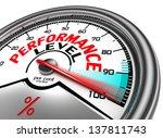 performance level conceptual...
