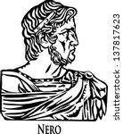 nero claudius caesar augustus... | Shutterstock .eps vector #137817623