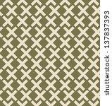seamless green geometrical... | Shutterstock .eps vector #137837393