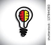 concept of idea generation ...   Shutterstock . vector #137844383