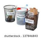 three buckets of assorted... | Shutterstock . vector #137846843