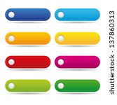 colorful long round buttons | Shutterstock .eps vector #137860313