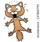 vector illustration of scared... | Shutterstock .eps vector #137860793